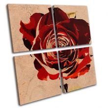 Abstract Rose Love Floral - 13-0800(00B)-MP01-LO